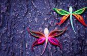 Cómo hacer una libélula con arte papel Quilling