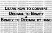 Convertir Decimal a binario y viceversa