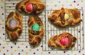 Cómo: cestas de pan de huevo de Pascua