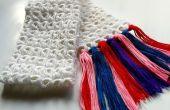 Palo de escoba DIY ganchillo bufanda