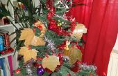 Árbol de Navidad adornos hojas