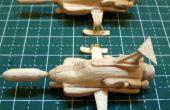 Mini UFO Interceptor Popsicle Stick modelo