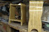 Taburetes de madera contrachapada con curvas