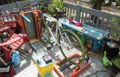 Bicicleta generador de Patio muebles hechos de materiales reciclados con el voltaje de sistema de carga de batería regulada