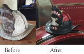 Antiguo casco de fuego restauración