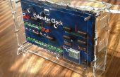 Reloj calendario digital hecha de Chips CMOS