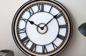 Reloj análogo de corte por láser