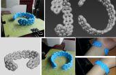 Cómo hacer tu primer 3d impreso redondo abierto brazalete pulsera!