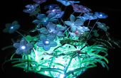 Fibra óptica y LED en miniatura jardín luz