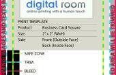 Crear tu propio diseño de tarjetas de visita desde cero