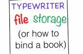 Almacenamiento de archivos de la máquina de escribir (cómo enlazar un libro)