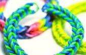 Cómo hacer una pulsera de telar fácil realmente lindo loomless del arco iris.