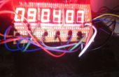 Altura de 2cm 7 segmentos 6 dígitos AVR reloj con termómetro de 4 dígitos