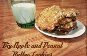 Gran manzana y galletas de mantequilla de maní
