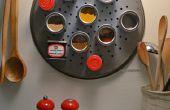 Contenedores de rack y especia especia magnético DIY