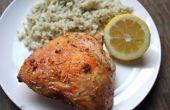 Muslos de pollo limón ajo