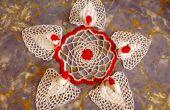 Crocheted cinco-Swan Symphony tapetito: Un regalo navideño perfecto