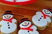 Bola de nieve Pooping galletas de muñecos de nieve azúcar
