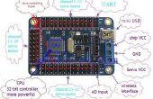 Arduino mini USB de 24 canales servo controlador tablero