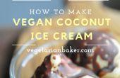 Helado de coco vegano | Receta de plátano-libre