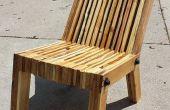 Reclinado de la silla de madera de la plataforma