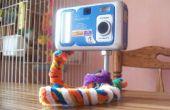 DIY trípode hecho de limpiapipas