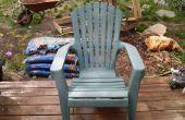 Insuflar nueva vida (renovación) en una oxidada silla de cubierta de PVC para vertedero de tha.