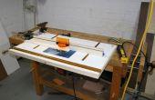 Mesa de fresadora de banco-montado