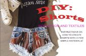 DIY pantalones cortos con postes de madera y Textiles