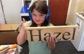 Niños construcción - dormitorio nombre placa del corte del Laser
