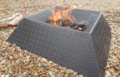 Cómo hacer un hoyo de fuego fresco y compacto de la mitad una hoja de acero