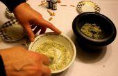 Pasta orgánica 'Nieve tapas' antiguo suizo blanqueamiento receta hecha en casa