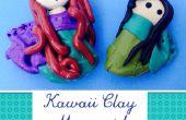 Encanto de arcilla kawaii sirena