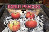 Duraznos de Donut - cocinados en las brasas