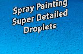 Increíble detalle gotitas de pintura en aerosol