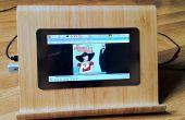 Frambuesa Pi medios jugador y trabajo de la estación con un altavoz integrado
