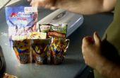 Preparar sus propias comidas de casa de montaña para menores de cincuenta centavos una porción