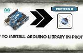 Biblioteca de Arduino en Proteus