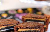 Brownies de Oreo y mantequilla de cacahuate