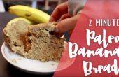 2 minutos el pan de Banana Paleo