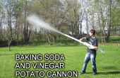Bicarbonato de sodio y vinagre cañón