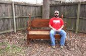 Construir un banco de un viejo marco de la cama (vídeo incluido)
