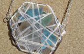 Hacer un mar de vidrio cesta colgante o pendientes