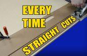 Hacer recta corta cada vez con un tablero de la puerta