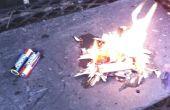 Hacer fuego con las baterías