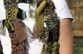 Cómo hacer un telar y tejer una bufanda de tela