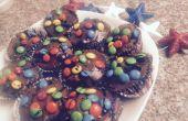 Cuatro de julio Brownie Cupcakes con M & M relleno
