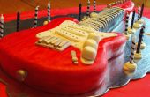 Pastel de guitarra eléctrica