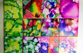 Posavasos de arte arco iris azulejo