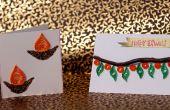 DIY: Como hacer tarjetas de felicitación de Diwali | Ideas de regalos bricolaje fácil